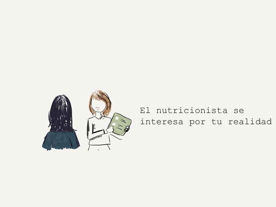 El nutricionista se interesa por tu realidad