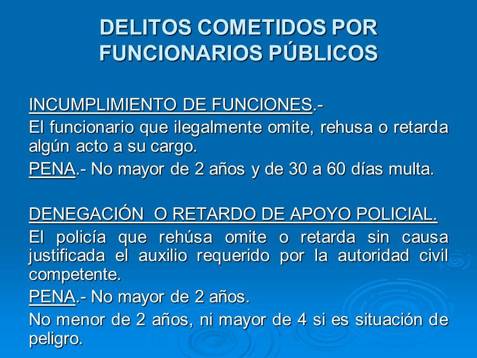 DELITOS COMETIDOS POR FUNCIONARIOS PÚBLICOS REQUERIMIENTO INDEBIDO DE LA FUERZA PÚBLICA.- Art.