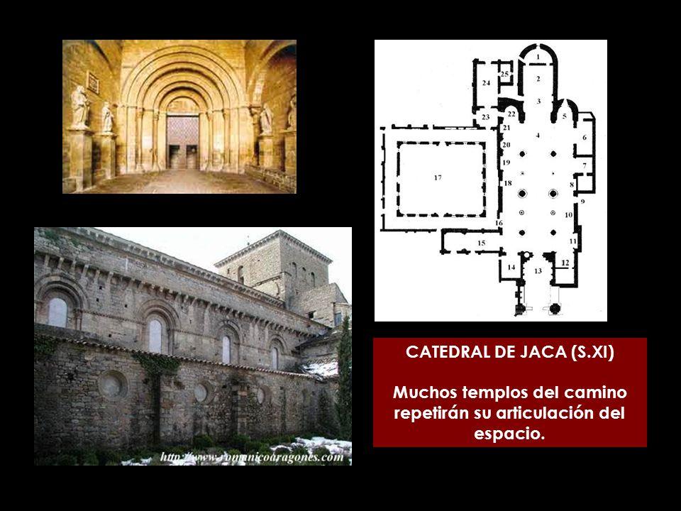 CATEDRAL DE JACA (S.XI) Muchos templos del camino repetirán su articulación del espacio.