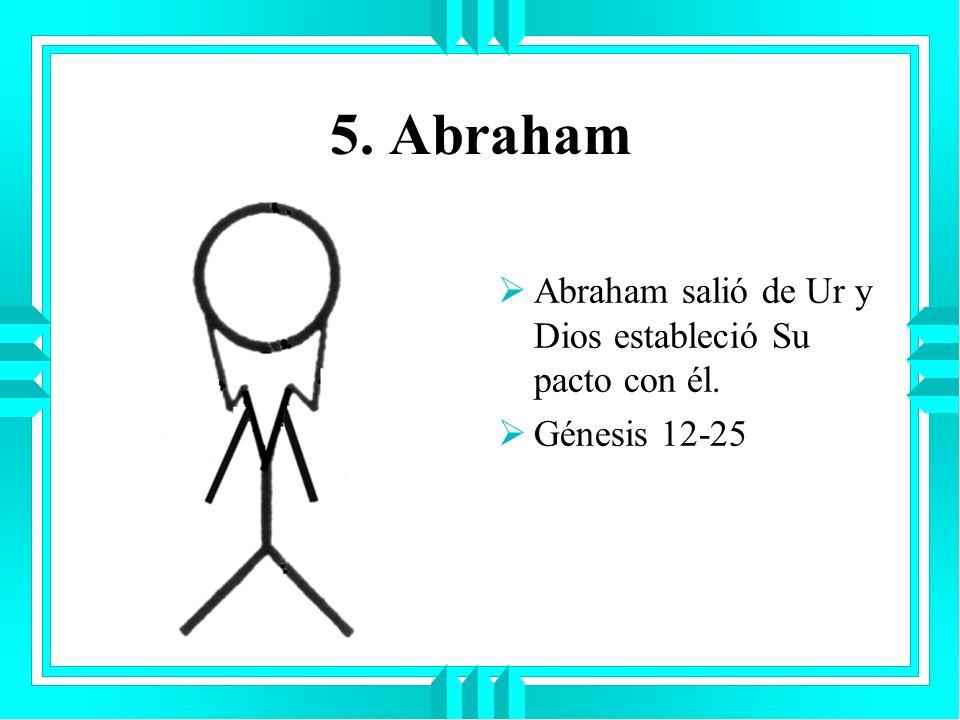 5. Abraham Abraham salió de Ur y Dios estableció Su pacto con él. Génesis 12-25