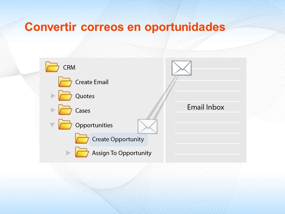 Convertir correos en oportunidades