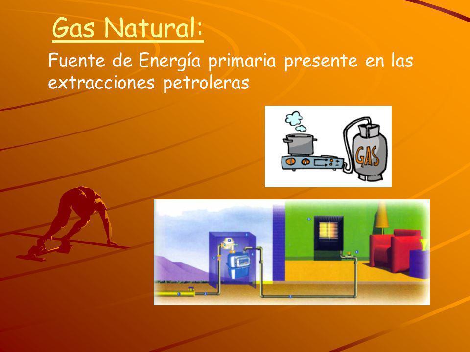 Gas Natural: Fuente de Energía primaria presente en las extracciones petroleras