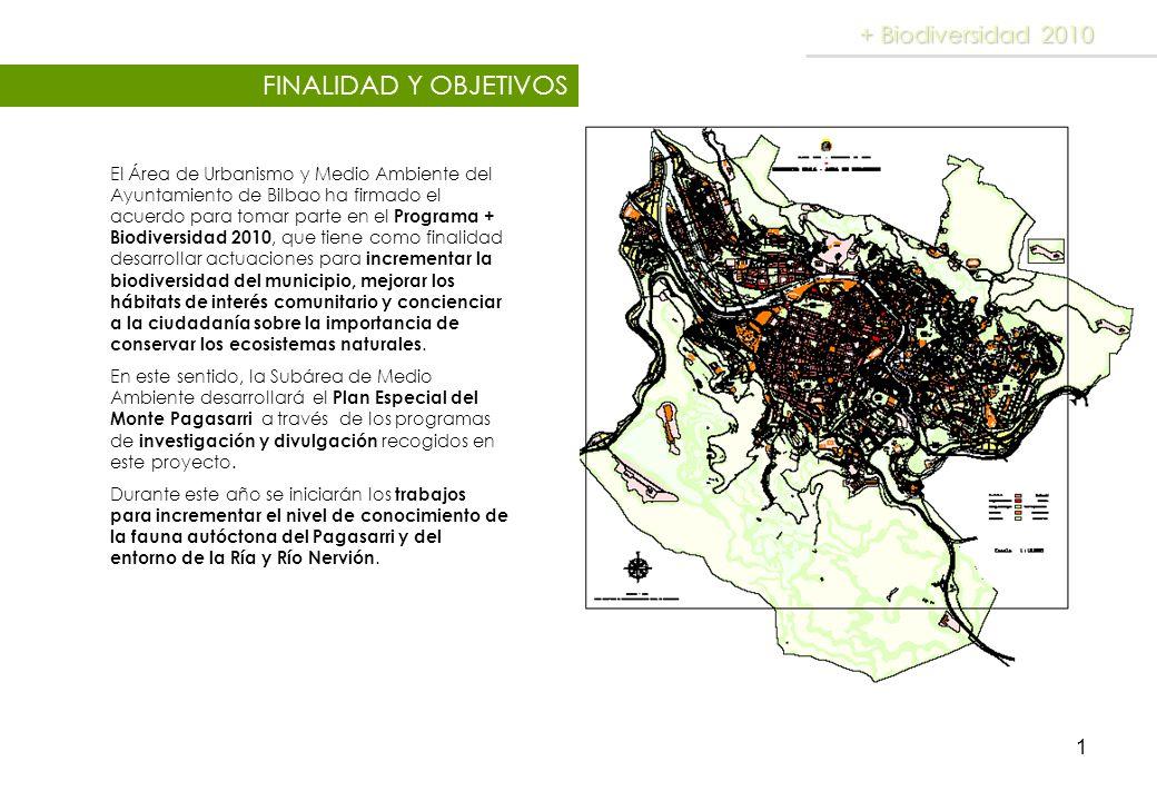 1 FINALIDAD Y OBJETIVOS + Biodiversidad 2010 El Área de Urbanismo y Medio Ambiente del Ayuntamiento de Bilbao ha firmado el acuerdo para tomar parte e