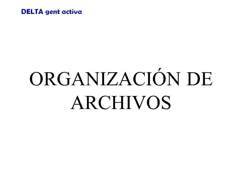 Organización de Archivos Panel de Navegación