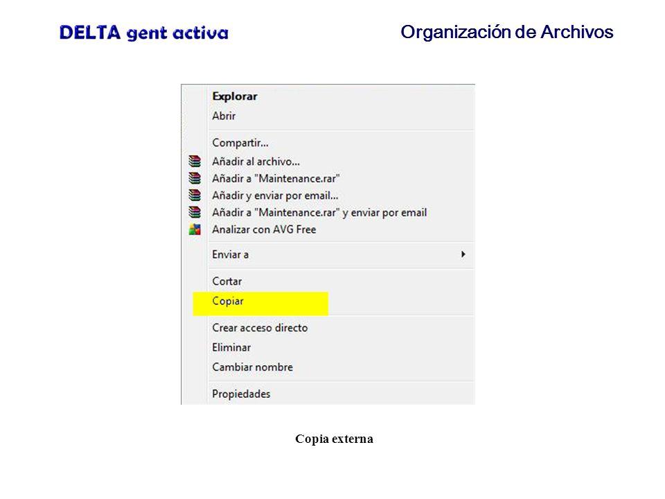 Organización de Archivos Copia externa