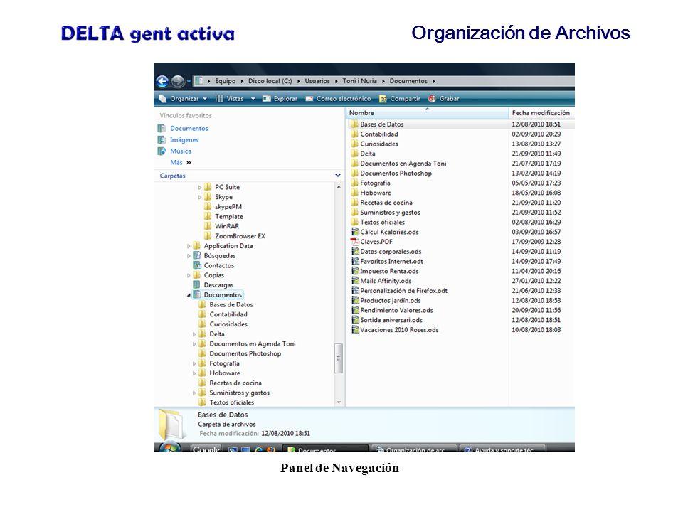 Organización de Archivos Creación de nueva carpeta