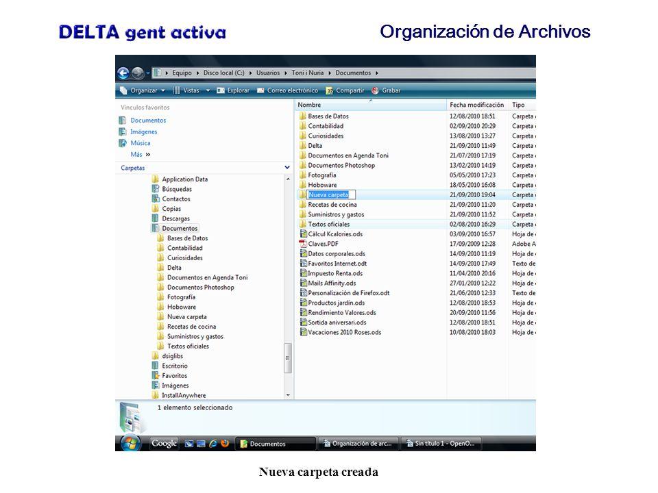 Organización de Archivos Guardar fichero