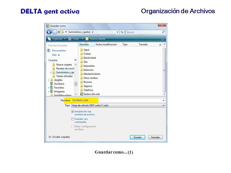Organización de Archivos Barra de direcciones