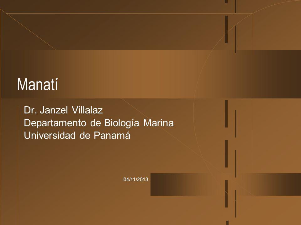 04/11/2013 Manatí Dr. Janzel Villalaz Departamento de Biología Marina Universidad de Panamá