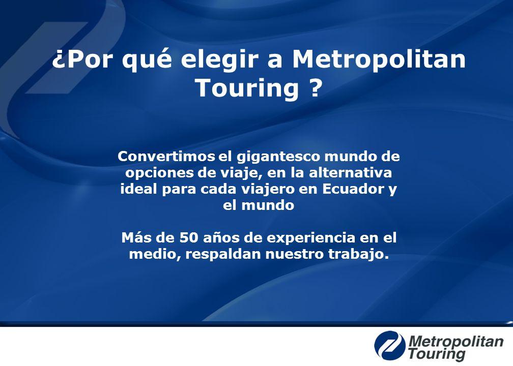 Convertimos el gigantesco mundo de opciones de viaje, en la alternativa ideal para cada viajero en Ecuador y el mundo Más de 50 años de experiencia en