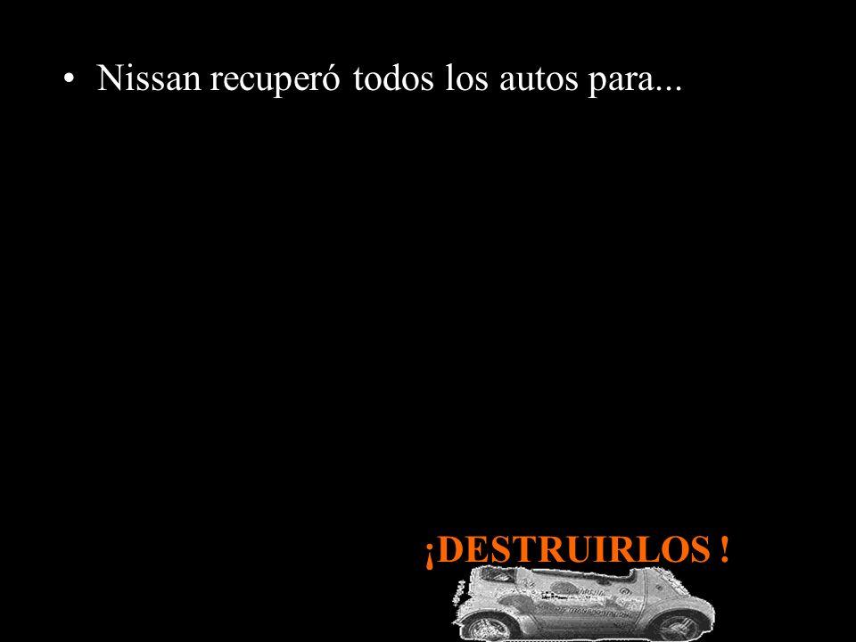 El municipio intentó comprar los autos pero Nissan se negó; En agosto de 2006, expiró el contrato de alquiler de los autos, entre el Municipio de Pasa