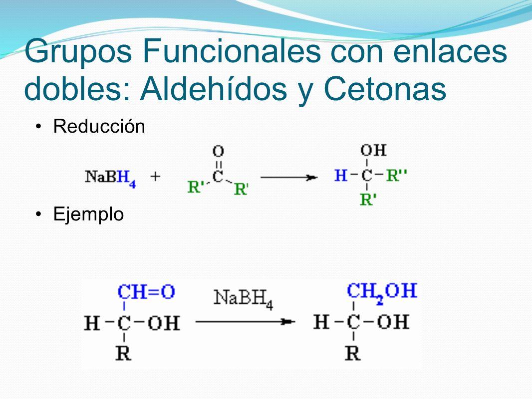 Grupos Funcionales con enlaces dobles: Aldehídos y Cetonas Reducción Ejemplo