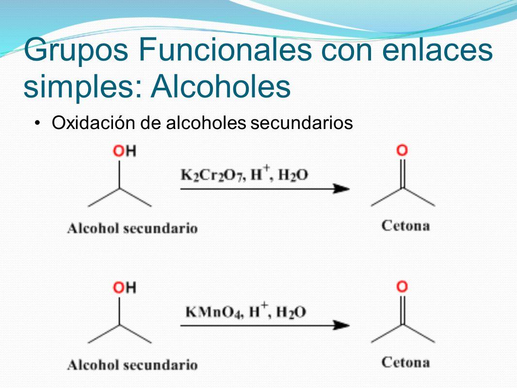 Grupos Funcionales con enlaces simples: Alcoholes Alcoholes con ácidos halohídricos