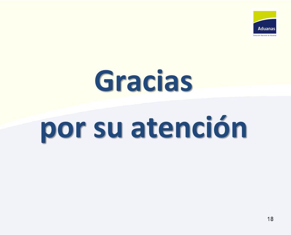 Gracias por su atención 18