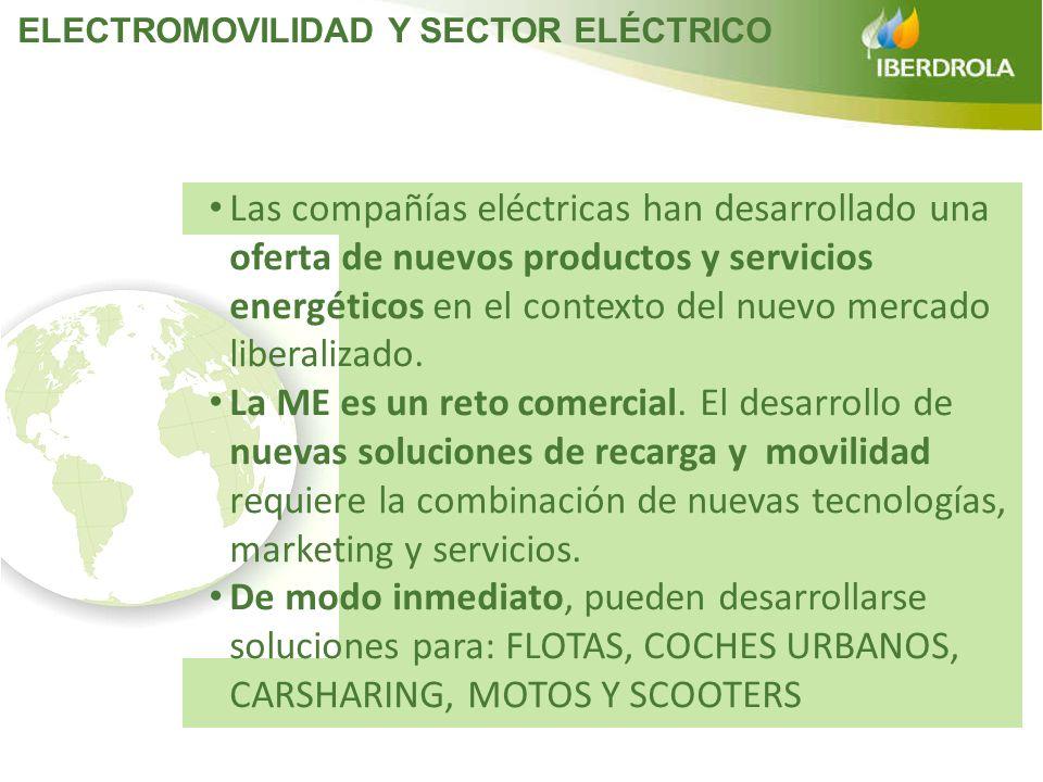 Las compañías eléctricas han desarrollado una oferta de nuevos productos y servicios energéticos en el contexto del nuevo mercado liberalizado. La ME