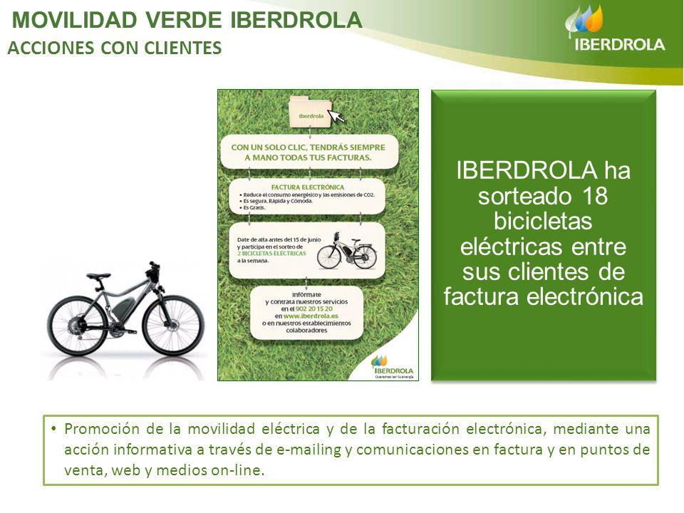 Promoción de la movilidad eléctrica y de la facturación electrónica, mediante una acción informativa a través de e-mailing y comunicaciones en factura
