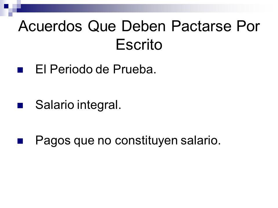 Contrato Escrito.