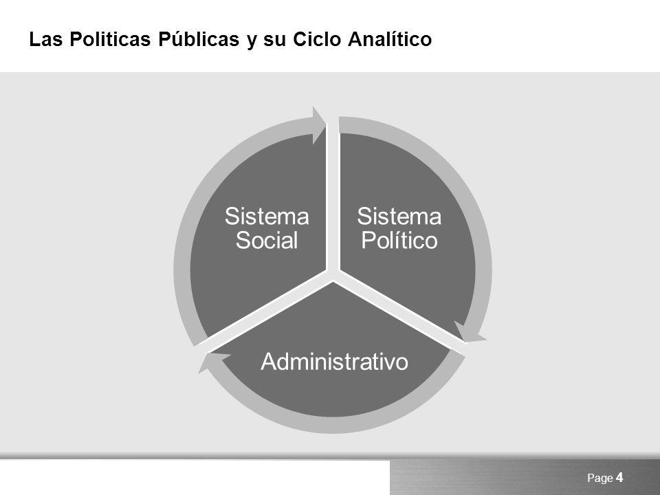 Here comes your footer Page 5 Supuestos Basicos para el Analisis de Politicas Públicas El sistema administrativo es un actor, tiene autonomía, no absolutamente dependiente, no jerárquico y piramidal, continua interacción con el sistema político y social.