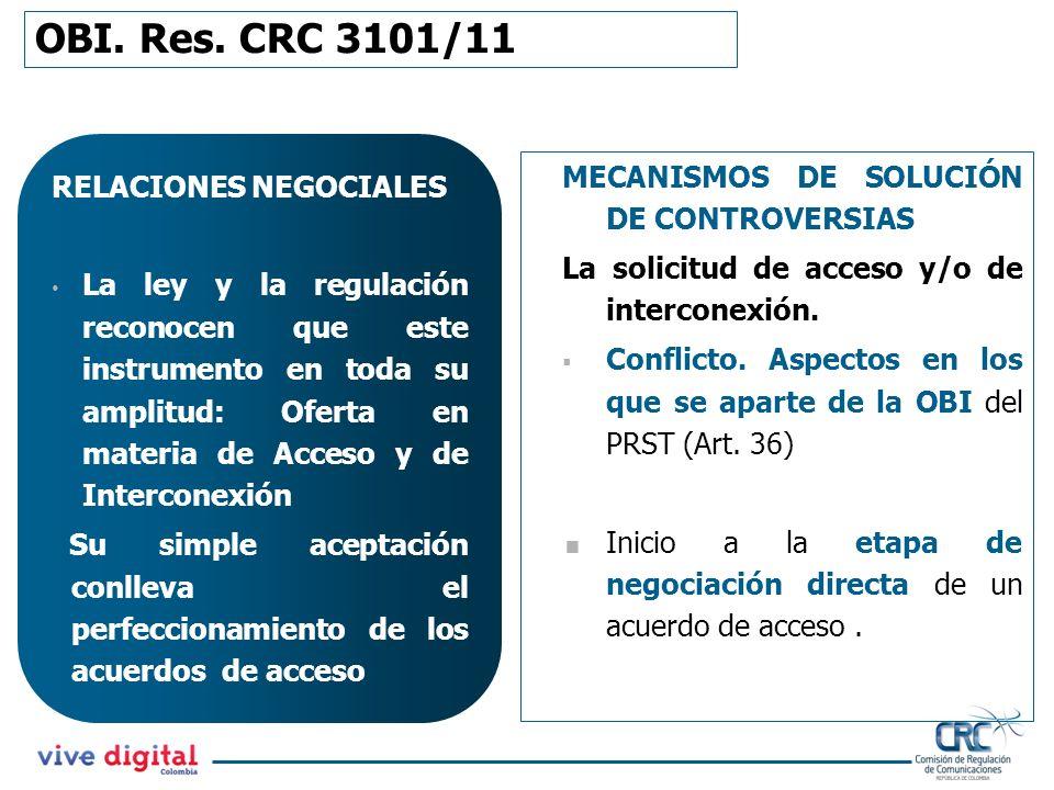 RELACIONES NEGOCIALES La ley y la regulación reconocen que este instrumento en toda su amplitud: Oferta en materia de Acceso y de Interconexión Su sim