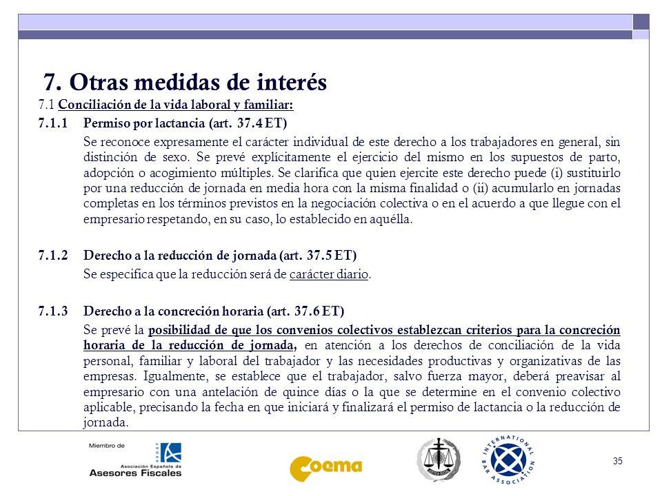36 7.Otras medidas de interés 7.1.4 Derecho a las vacaciones anuales (art.