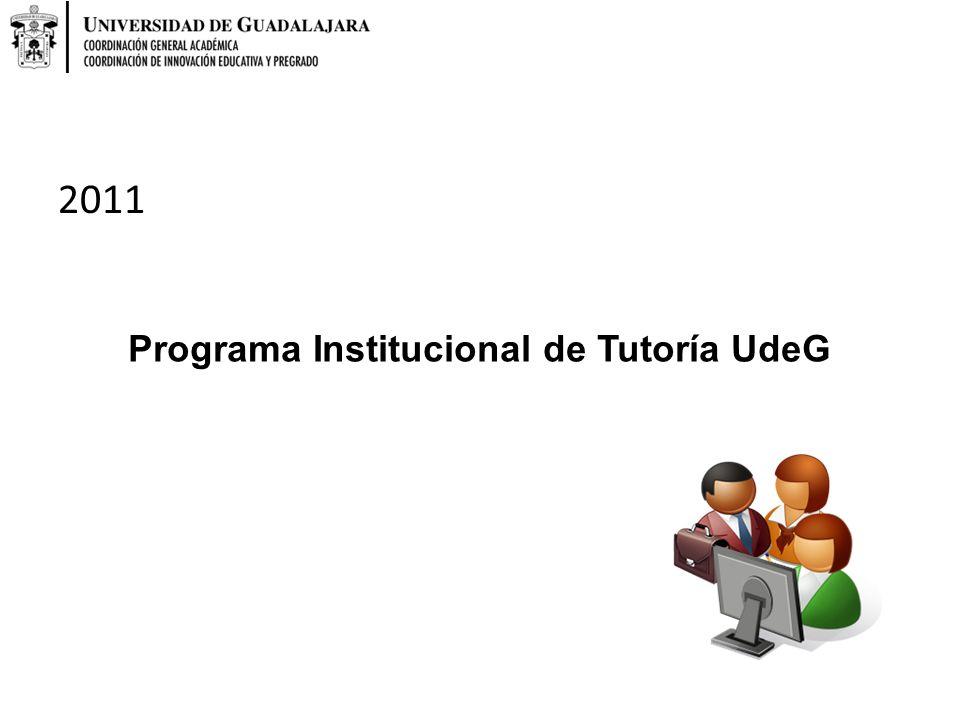 Programa Institucional de Tutoría UdeG 2011