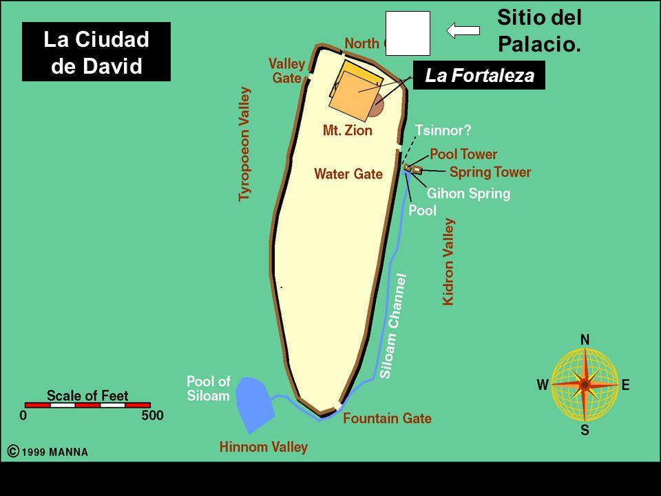 City of David Sitio del Palacio. La Ciudad de David La Fortaleza