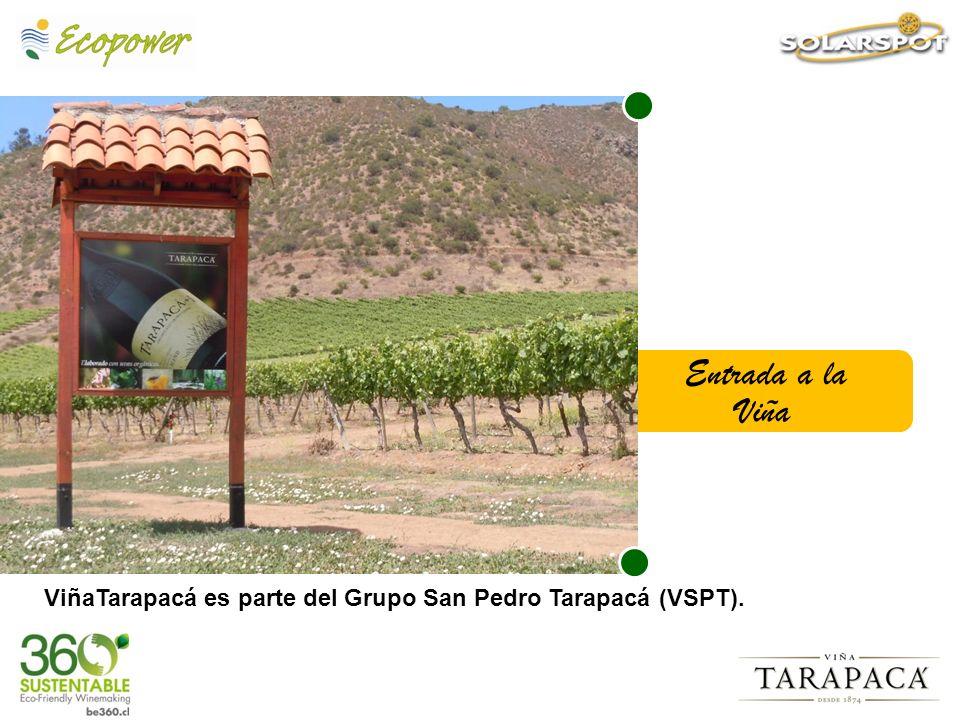 Entrada a la Viña ViñaTarapacá es parte del Grupo San Pedro Tarapacá (VSPT).