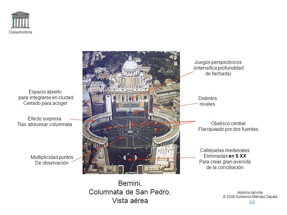 Claseshistoria Historia del Arte © 2006 Guillermo Méndez Zapata Obelisco central Flanqueado por dos fuentes Multiplicidad puntos De observación Juegos