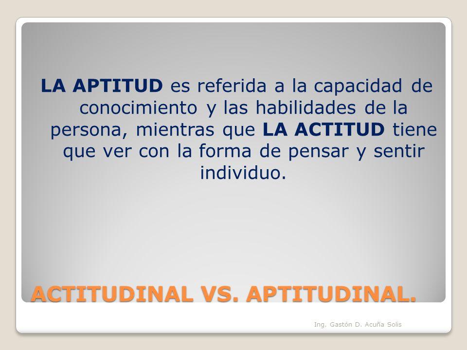 "La presentaci�n ""ACTITUDINAL VS. APTITUDINAL. LA APTITUD es ..."