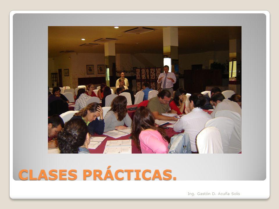 CLASES PRÁCTICAS. Ing. Gastón D. Acuña Solis