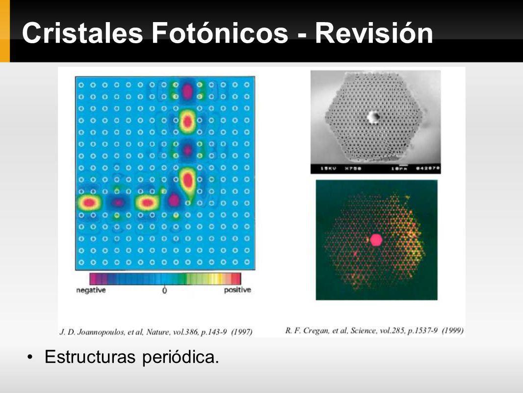 Cristales Fotónicos - Revisión Estructuras periódica.