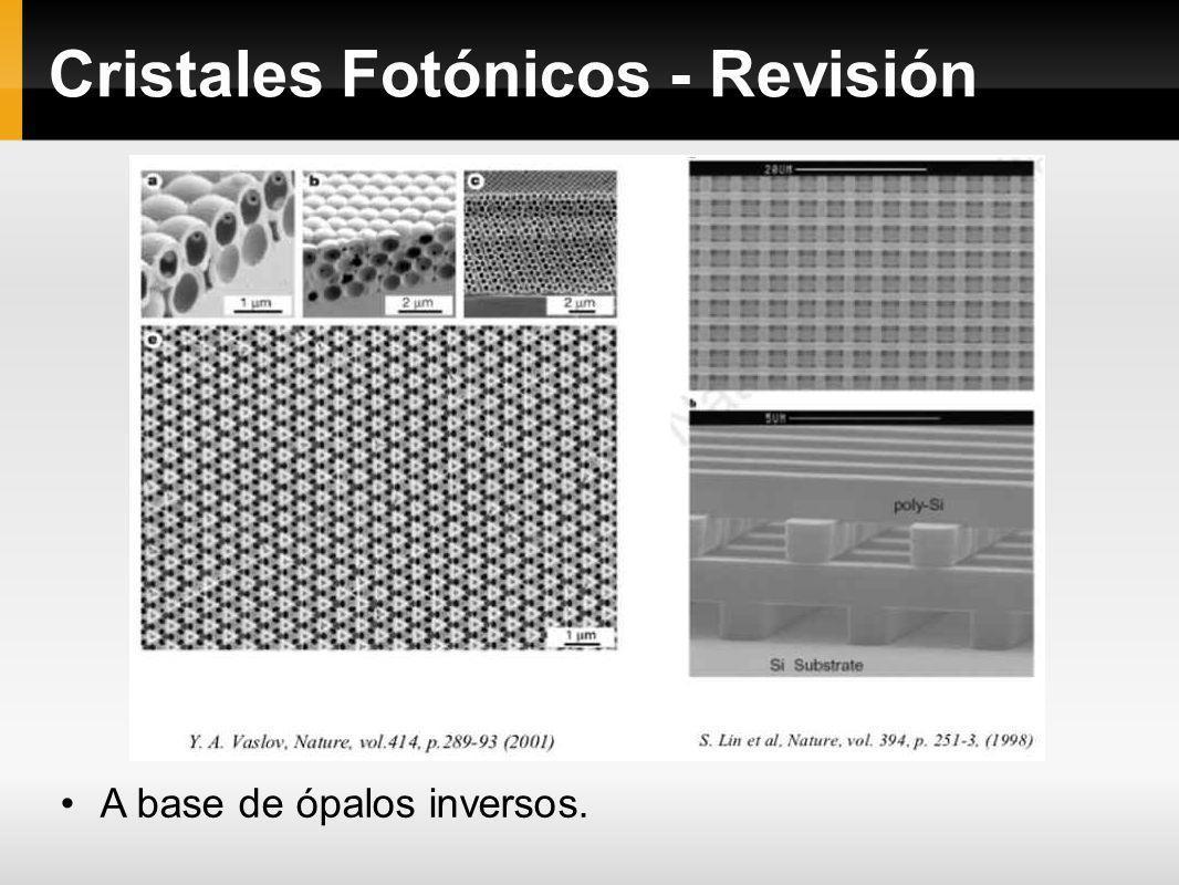Cristales Fotónicos - Revisión A base de ópalos inversos.