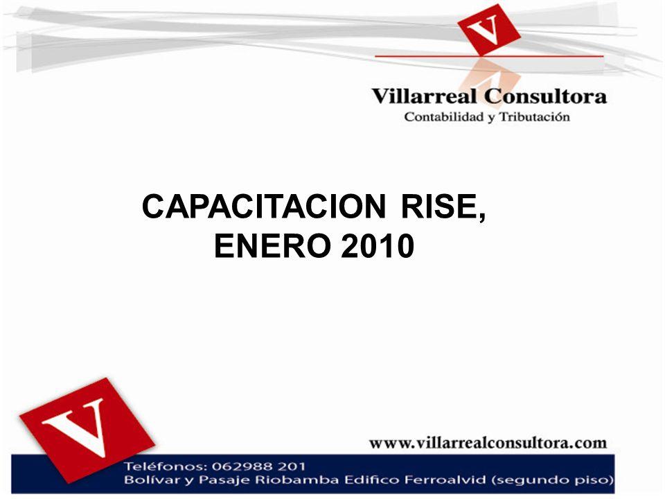 CAPACITACION RISE, ENERO 2010