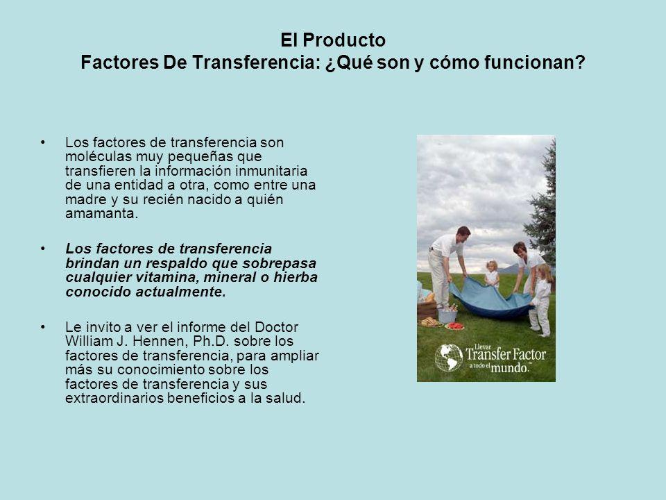 El Producto Factores De Transferencia: ¿Qué son y cómo funcionan? Los factores de transferencia son moléculas muy pequeñas que transfieren la informac
