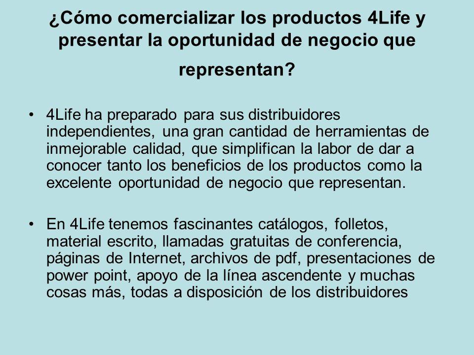 ¿Cómo comercializar los productos 4Life y presentar la oportunidad de negocio que representan? 4Life ha preparado para sus distribuidores independient