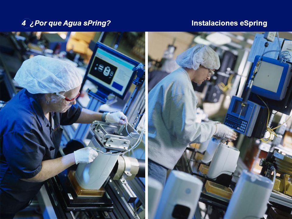 4 ¿Por que agua eSpring?eSpring instalaciones