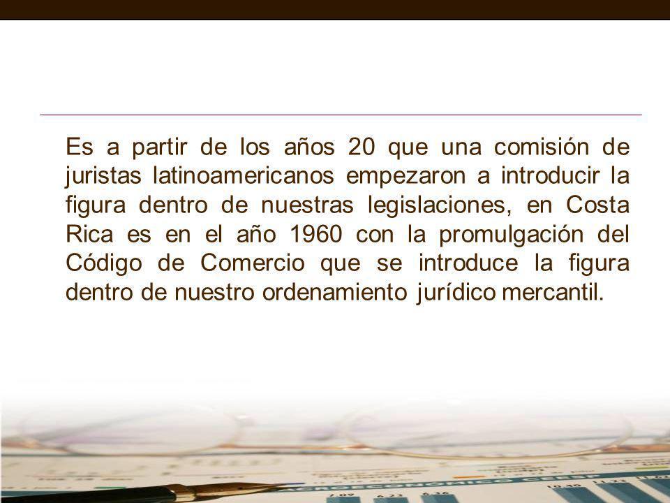 Es a partir de los años 20 que una comisión de juristas latinoamericanos empezaron a introducir la figura dentro de nuestras legislaciones, en Costa R