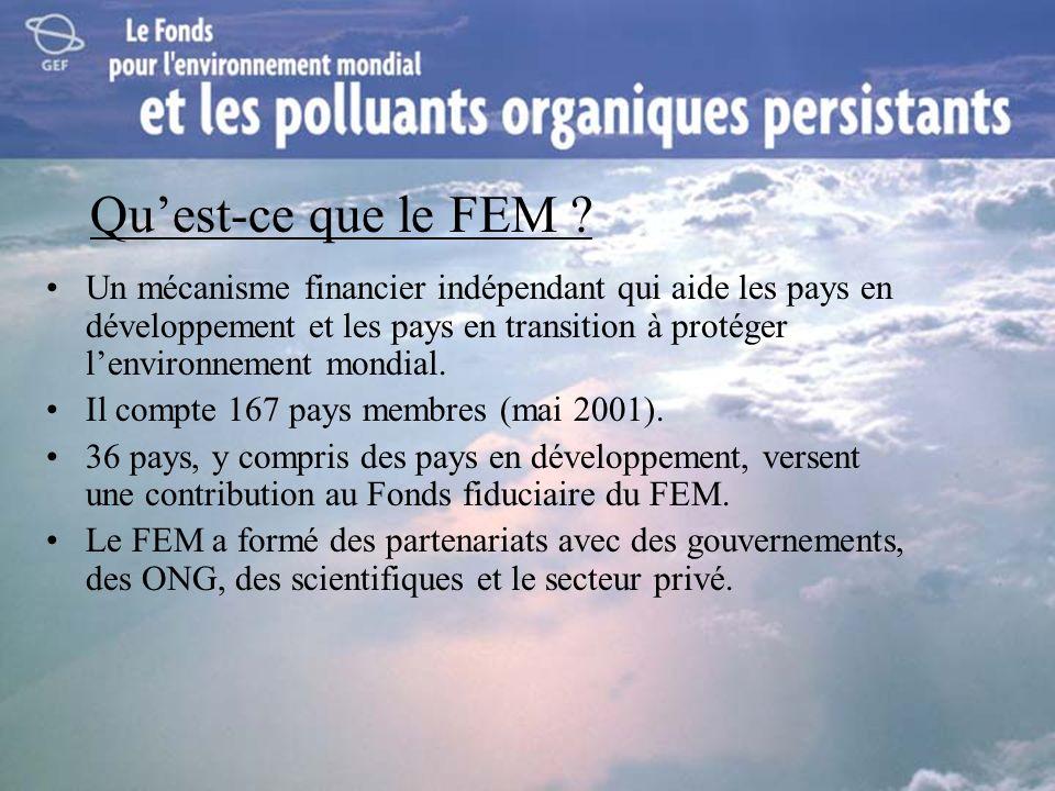 Quest-ce que le FEM ? Un mécanisme financier indépendant qui aide les pays en développement et les pays en transition à protéger lenvironnement mondia