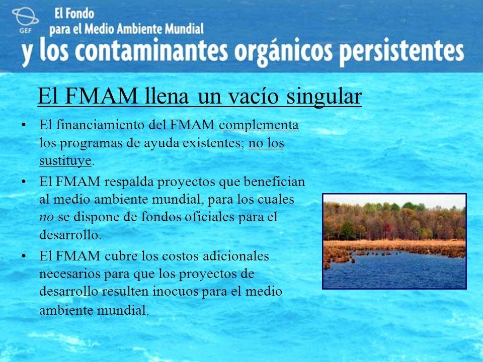 El financiamiento del FMAM complementa los programas de ayuda existentes; no los sustituye. El FMAM respalda proyectos que benefician al medio ambient