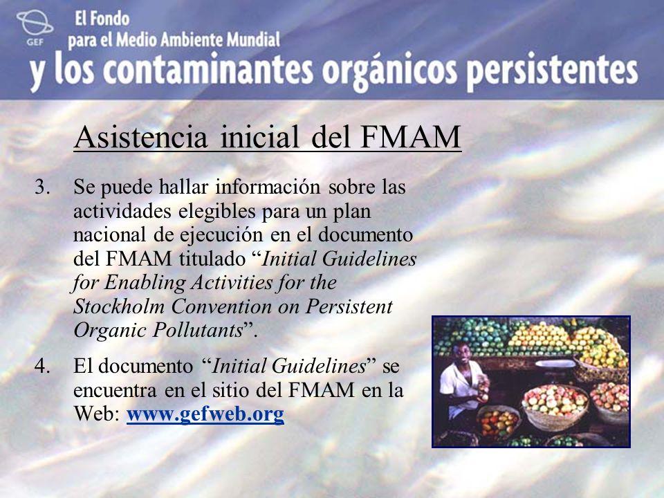 3.Se puede hallar información sobre las actividades elegibles para un plan nacional de ejecución en el documento del FMAM titulado Initial Guidelines