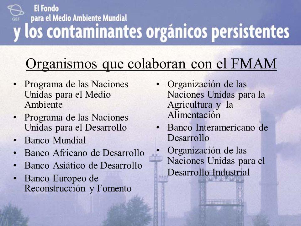 Organismos que colaboran con el FMAM Programa de las Naciones Unidas para el Medio Ambiente Programa de las Naciones Unidas para el Desarrollo Banco M