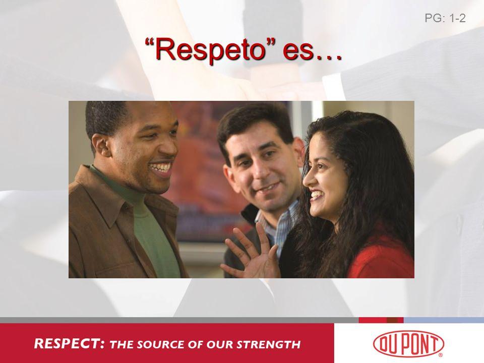 Respeto Tolerancia PG: 1-3