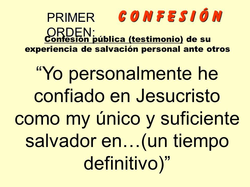 IGLESIA LOCAL 4 3 2 1 CREYENTES EL ORDEN DE DIOS EN LA