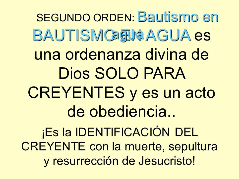 IGLESIA LOCAL 1 C O N F E S I Ó N CREYENTES EL ORDEN DE DIOS (Nuevo nacimiento/naturaleza divina) EN LA