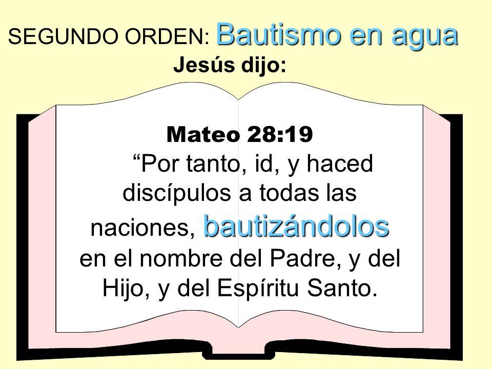 BAUTISMO EN AGUA BAUTISMO EN AGUA es una ordenanza divina de Dios SOLO PARA CREYENTES y es un acto de obediencia.. ¡Es la IDENTIFICACIÓN DEL CREYENTE