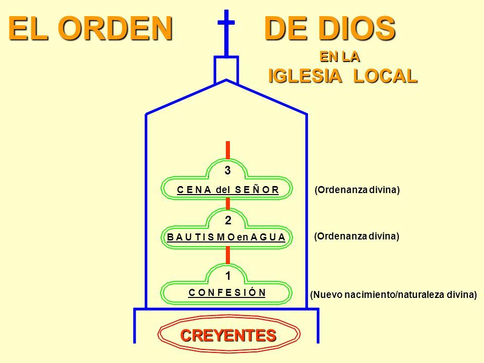 TERCER ORDEN: LA CENA DEL SEÑOR 1 Corintios 11:25 & 26 copa copa Asimismo tomó también la copa, después de haber cenado, diciendo, Esta copa es el nue