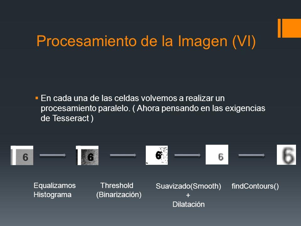 Procesamiento de la Imagen (VI) En cada una de las celdas volvemos a realizar un procesamiento paralelo. ( Ahora pensando en las exigencias de Tessera
