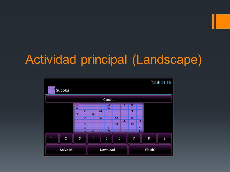 Actividad principal (Landscape)