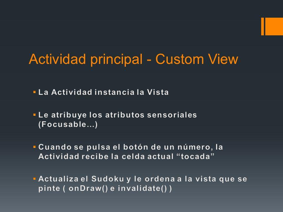 Actividad principal - Custom View
