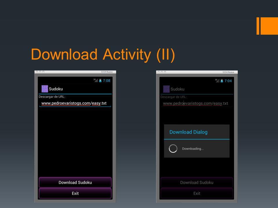 Download Activity (II)